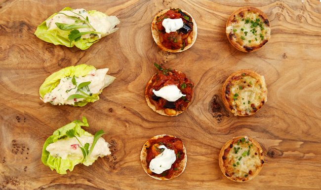 Events canapes menu groucho club for Canape history
